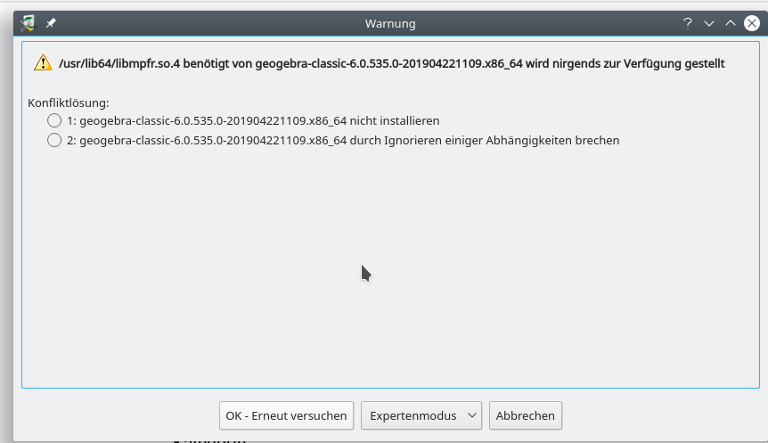 Install Geogebra Classic 6 on OpenSuse Leap 15